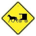 Amish Buggy Crossing