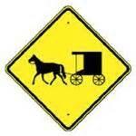 Amish Buggy Crossing